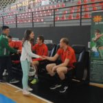 Амбасадорите на проектот  Фудбал за пријателство  на тренингот и на РК Вардар
