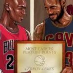 Леброн Џејмс го престигна Џордан на листата на најдобрите стрелци во плејофот