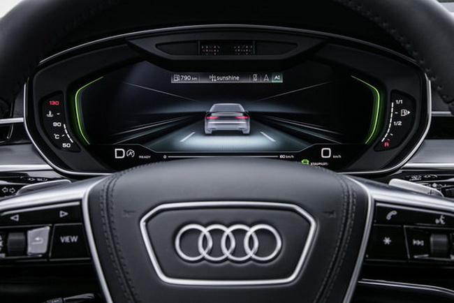 Audi AI traffic jam pilot in the new Audi A8