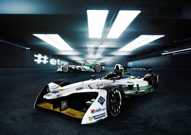 Audi e-tron FE04 #1 (Audi Sport ABT Schaeffler), Lucas di Grassi, Audi e-tron FE04 #66 (Audi Sport Team ABT Schaeffler), Daniel Abt
