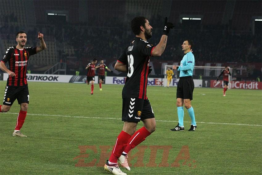 Италооо  Вардар води 1 0 против Розенборг