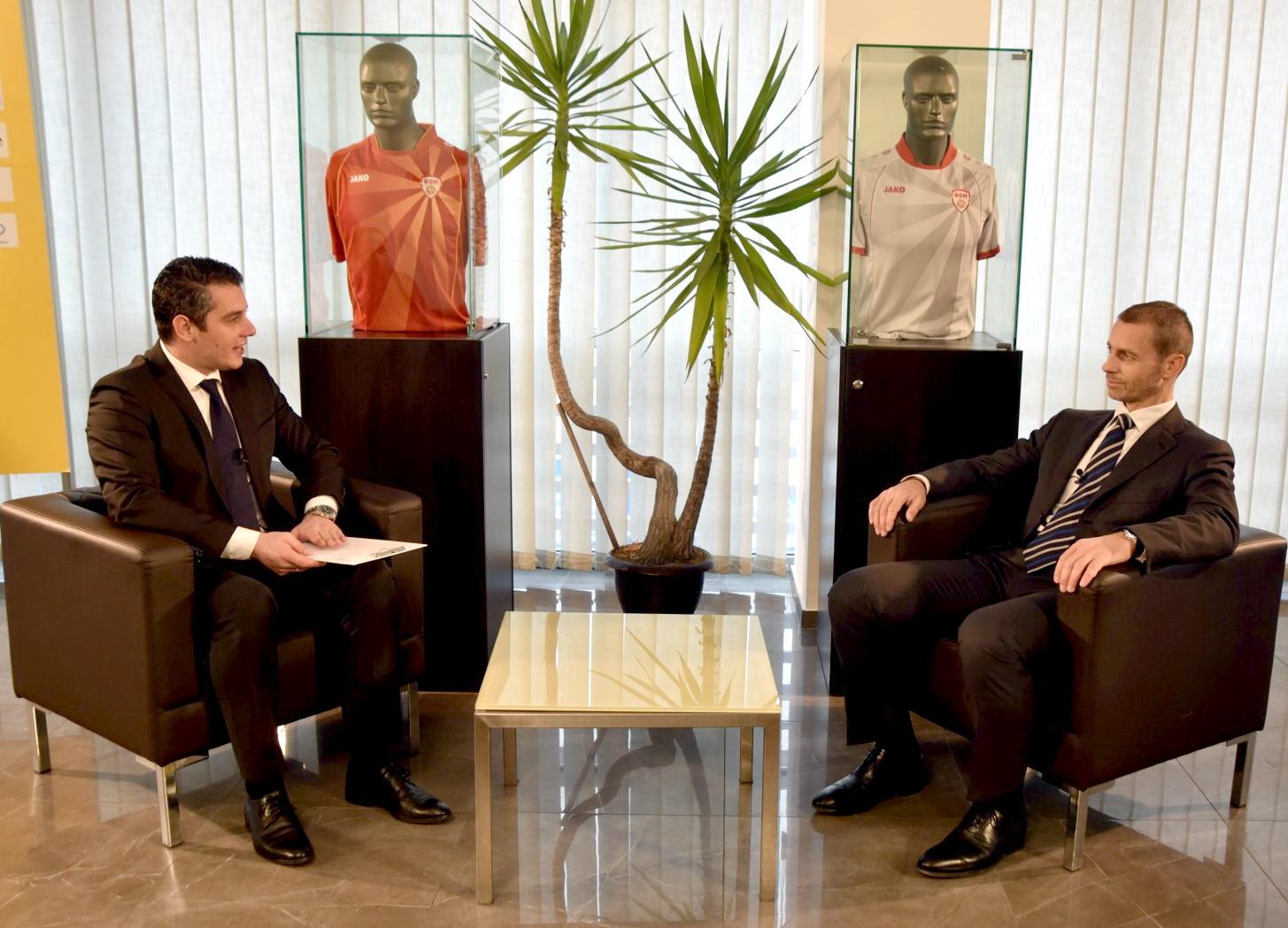 Чеферин по гостувањето во Скопје   Македонија е значаен партнер во решавањето на проблемите на модерниот фудбал