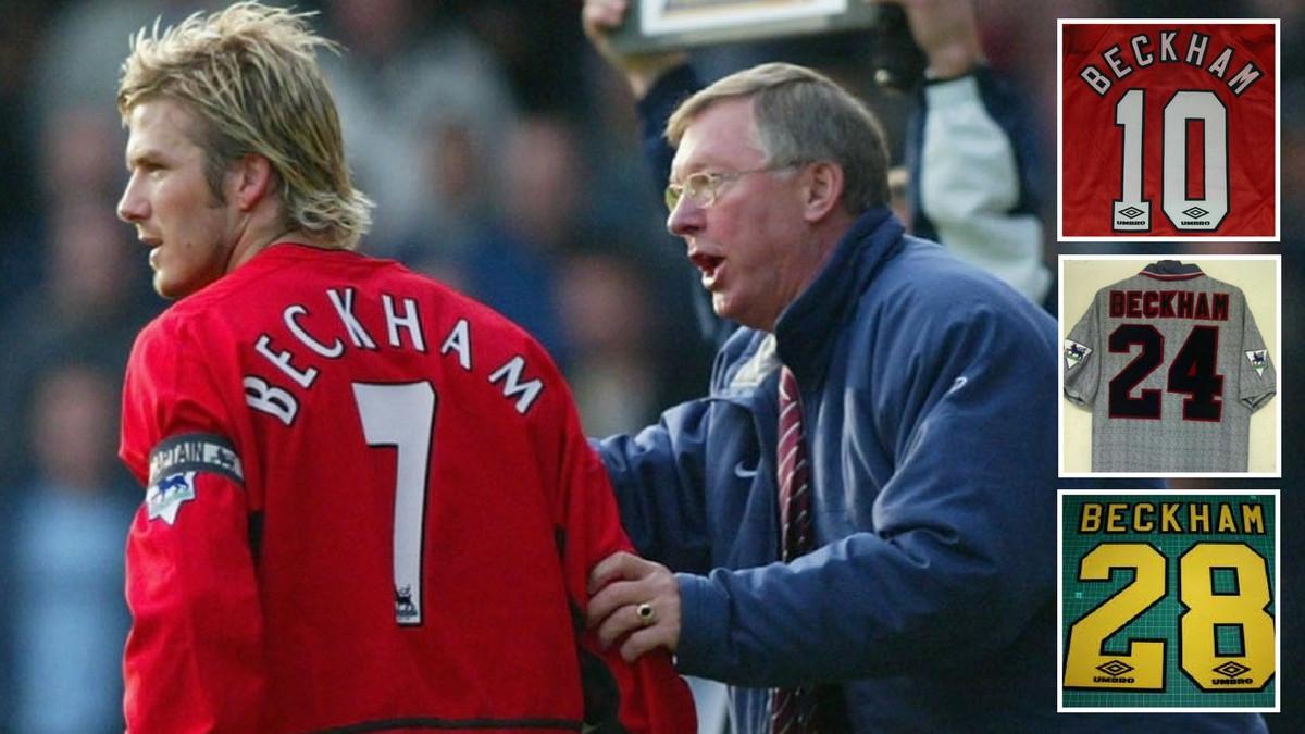 Дејвид Бекам на среќа ја добил легендарната  седумка  во Манчестер јунајтед