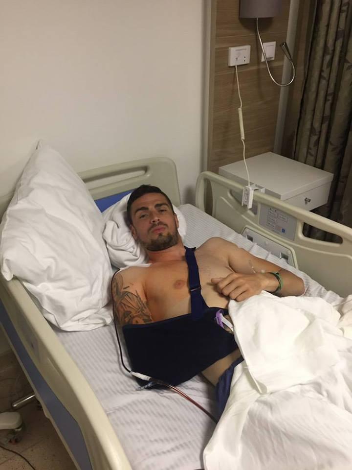 Столе Стојчевски го оперираше рамото и ќе одмара три недели